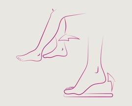 2 venų mankštos pratimo, pėdos stūmimo, iliustracija